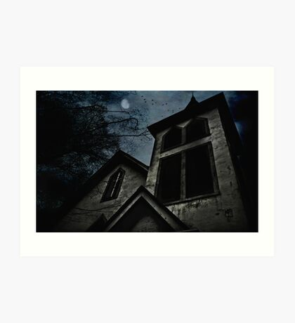 This is the house where evil dwells Art Print