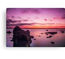 Cleveland Point Rocks @ Sunset Canvas Print