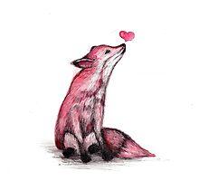 Fox Love Photographic Print