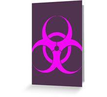 biohazard - organic, bio, hazardous, contaminated, environmentally Greeting Card