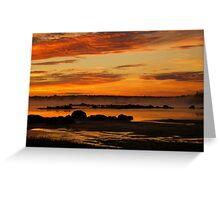 Seasmoke at Dawn Greeting Card