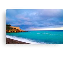 Nice Mediterranean Coast Canvas Print