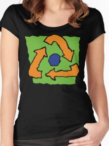 Earth Day Recycle Women's Fitted Scoop T-Shirt