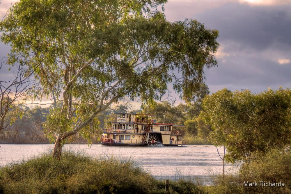 Captain Proud Paddle Steamer - Swanport, Murray Bridge, SA by Mark Richards