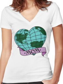 Earth Day Mother Earth Women's Fitted V-Neck T-Shirt