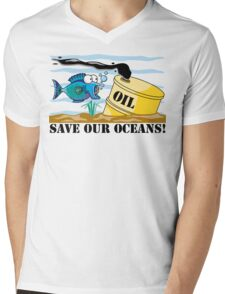 Earth Day Save Our Oceans Mens V-Neck T-Shirt