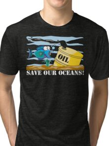 Save Our Oceans Earth Day Tri-blend T-Shirt