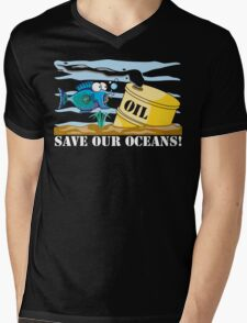 Save Our Oceans Earth Day Mens V-Neck T-Shirt