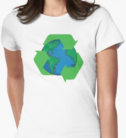 Recycle Earth Day Womens Fitted T-Shirt