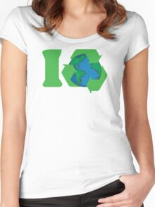 I Recycle Earth Day Women's Fitted Scoop T-Shirt