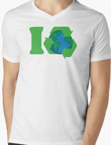 I Recycle Earth Day Mens V-Neck T-Shirt