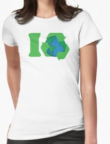 I Recycle Earth Day Womens Fitted T-Shirt