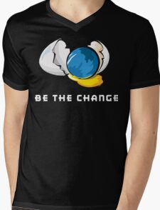 Be The Change Earth Day Mens V-Neck T-Shirt