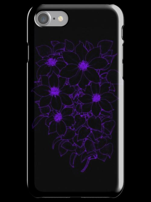 Purple Flowers - Black by blaineweasleys