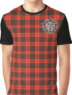 Supernatural Anti-possession symbol on PLAID in RED Graphic T-Shirt