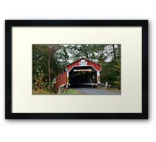 Richards Covered Bridge_Columbia County Pennsylvania Framed Print