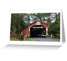 Richards Covered Bridge_Columbia County Pennsylvania Greeting Card