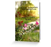 Wild Beauty Anniversary Card Greeting Card