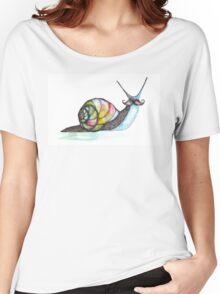 Funky Moustache Snail Women's Relaxed Fit T-Shirt