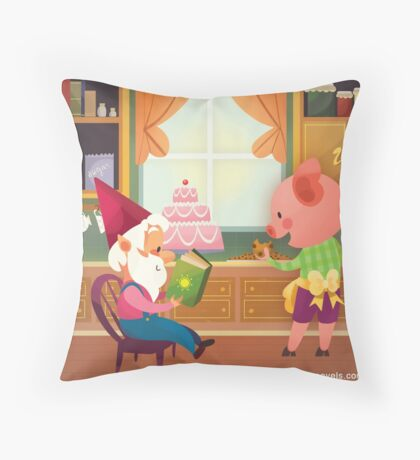 Mr. Pepper Pickle Pumpkin Plum Throw Pillow