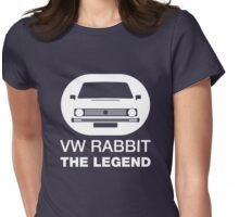 VW Rabbit The Legend Womens Fitted T-Shirt