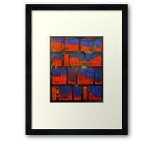 Blood Squares Framed Print
