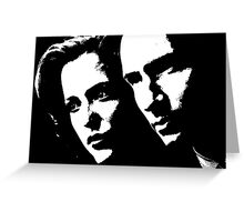 X files mulder & scully Greeting Card