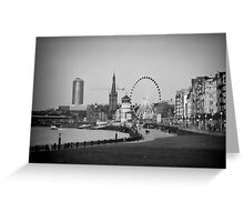 Duesseldorf, Germany, in b/w Greeting Card