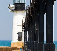 St. Joseph North Pier Outer Light, Michigan by Kenneth Keifer