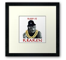 KEEP IT KRAKEN Framed Print
