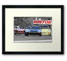 Racing at Historic Winton 2011 Framed Print