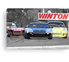 Racing at Historic Winton 2011 Canvas Print