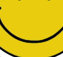 Vintage 90's Grunge Yellow Smiley ACID Rave Face Sticker