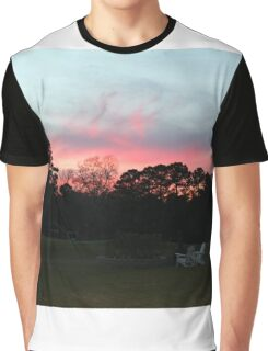 Colorful Sky Above The Trees Graphic T-Shirt