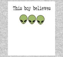 This Boy Believes in Aliens Baby Tee