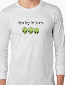 This Boy Believes in Aliens Long Sleeve T-Shirt
