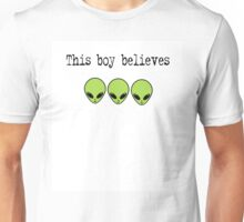 This Boy Believes in Aliens Unisex T-Shirt