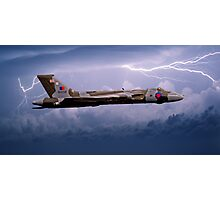 Vulcan Bomber in a Storm Photographic Print
