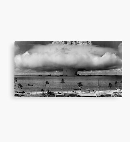 Atomic Bomb Mushroom Cloud Operation Crossroads Baker Test Canvas Print