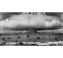Atomic Bomb Mushroom Cloud Operation Crossroads Baker Test Photographic Print