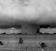 Atomic Bomb Mushroom Cloud Operation Crossroads Baker Test Sticker