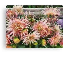 Mothers Day Dahlias Canvas Print