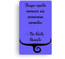 The Genie, Aladdin Quote Canvas Print