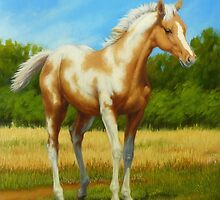 Pretty Baby-Paint Foal by Margaret Stockdale