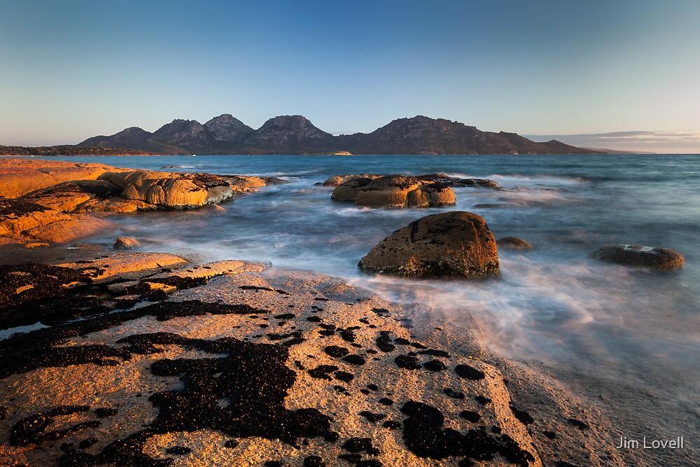 The Hazards at Sunset, Tasmania by Jim Lovell