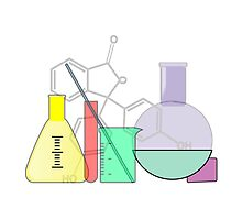 Chemistry equipment in laboratory by nadil