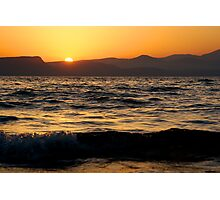 Sunset on the Sea of Galilee Photographic Print