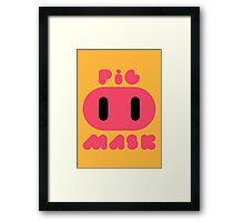Pig Mask Logo Framed Print
