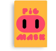 Pig Mask Logo Canvas Print