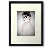 a moment in peaceful terror Framed Print
